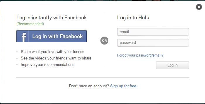 Hulu signup