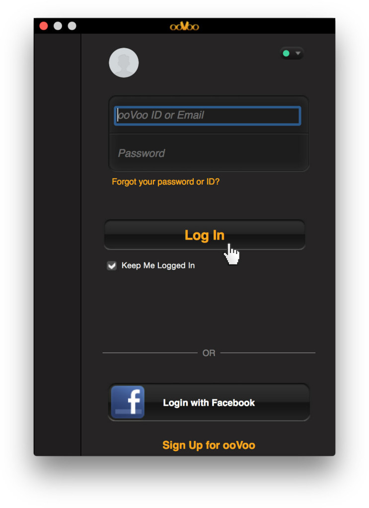 Login ooVoo