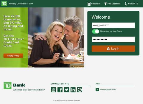 TD Bank app