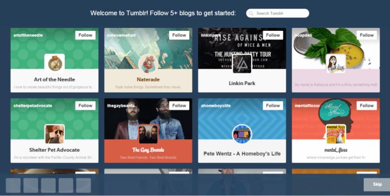 tumblr blog suggestions
