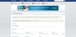 US Airways Mastercard Signup Form