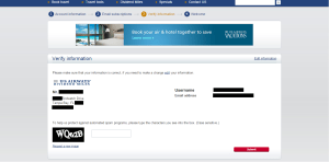 US Airways Mastercard confirmation