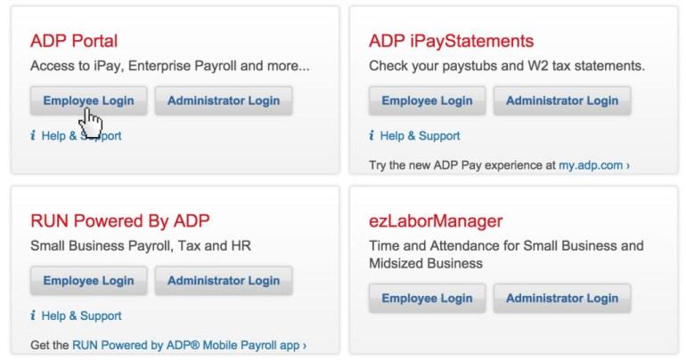 ADP login portal