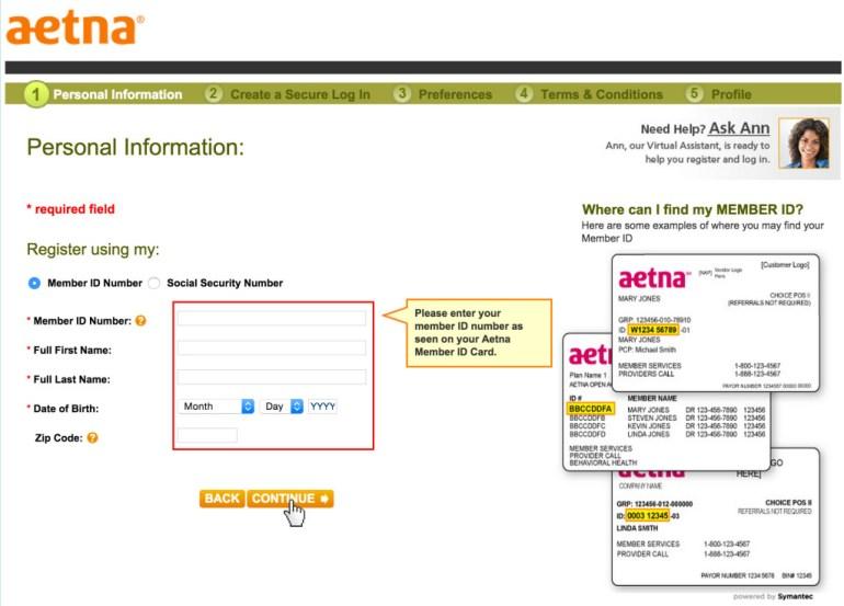 Aetna registration