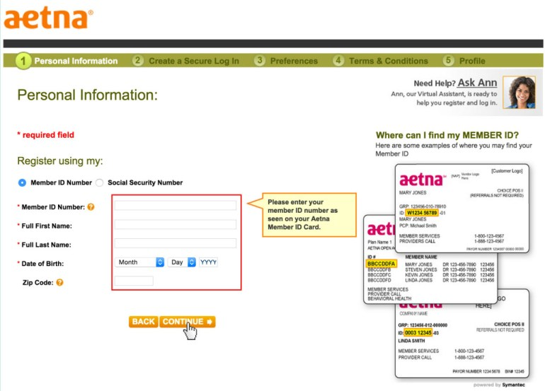 Aetna registration