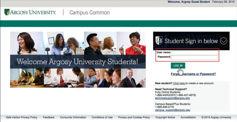 Argosy University student login