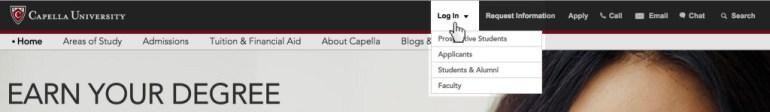 Capella Student login