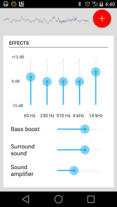 Equalizer Android app