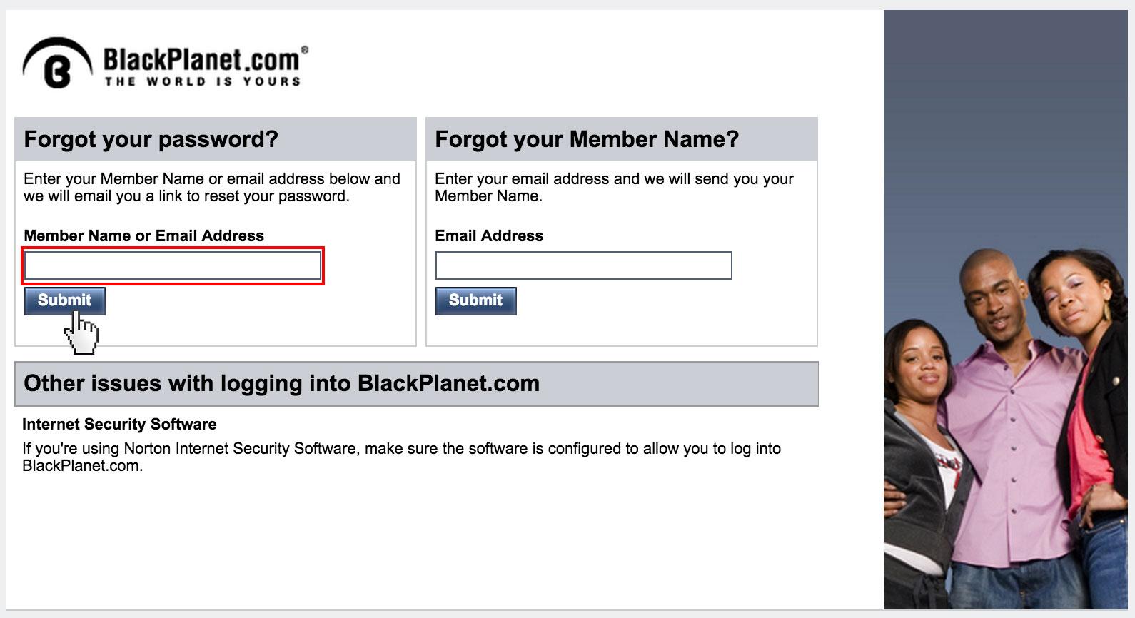 BlackPlanet password reset - accountdesk.net