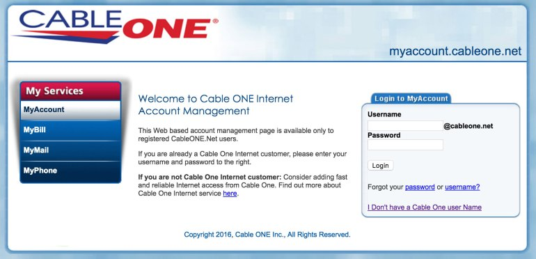 Cable One login