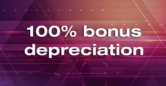 new bonus depreciation rules