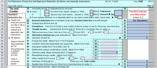 2013 tax 1040 table – Earned Income Credit Worksheet 2013