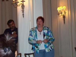 Susan Answers Questions After Her Presentation