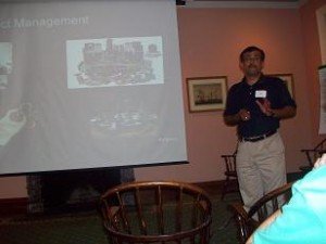 Gopal Makes A Point During His Presentation