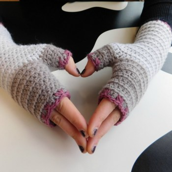 Atelier, mitaines sans doigts/fingerless gloves, crochet