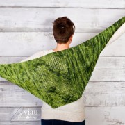 Green Tea, châle/shawl, crochet tunisien/Tunisian crochet