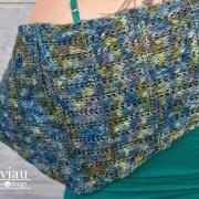 Adstock, châle/shawl, crochet tunisien/Tunisian crochet