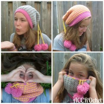 Quatre, col transformable/convertible cowl, crochet