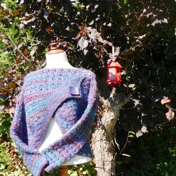 Blueberry Jam, pullover, crochet