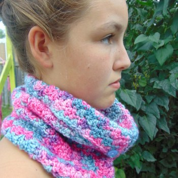 Unicorn, col transformable/convertible cowl, crochet