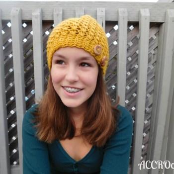 Mustard hat, crochet