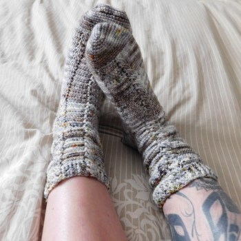 Almost the same socks, crochet