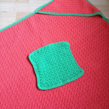 Clean yo' baby, serviette & débarbouillette / washcloth & towel, crochet