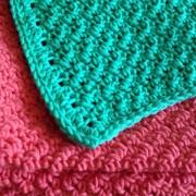 Clean yo' baby, serviette & débarbouillette / washcloth & towel, crochet