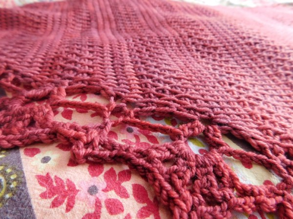 Orchard châle / shawl, crochet tunisien / tunisian crochet