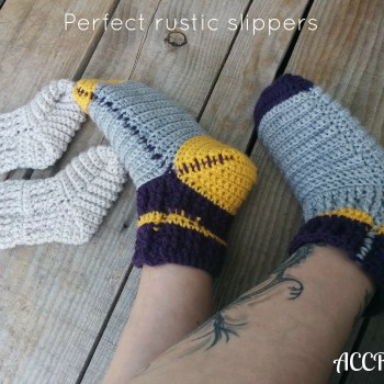 Perfect rustic slippers