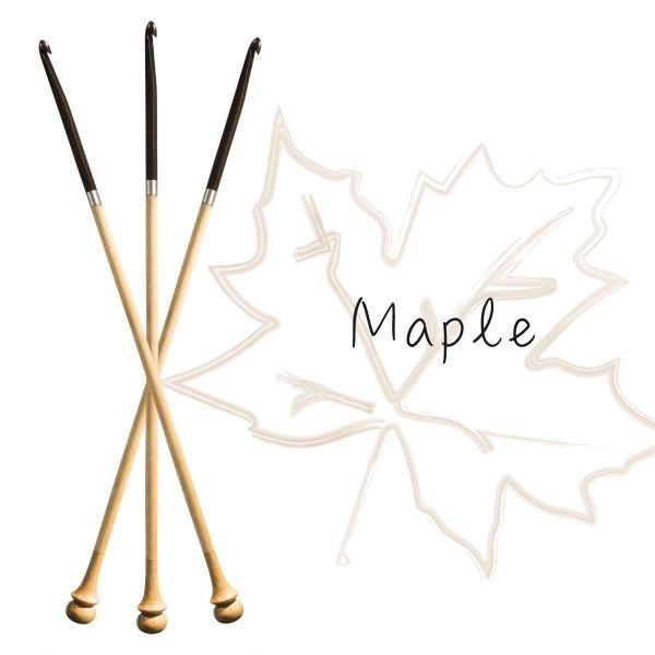 Tunisian crochet hook - maple