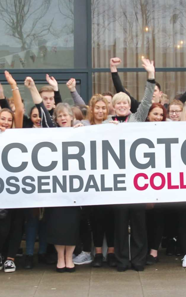 Accrington and Rossendale College Celebrating Ofsted Report
