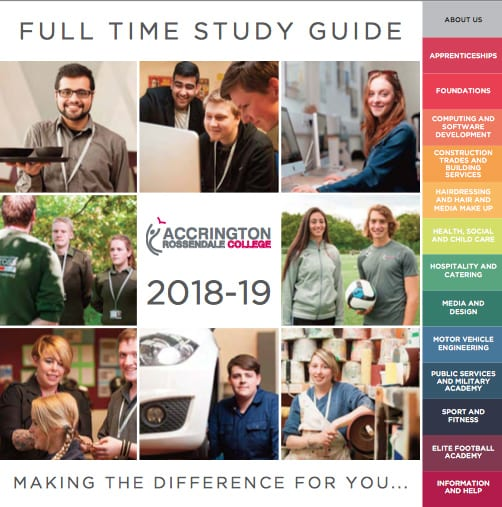 accrington and rossendale college Prospectus 2018 2019