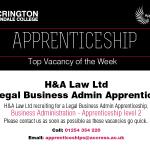 Apprentice Vacancy of Week 03/09/2018