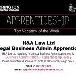 Apprentice Vacancy of Week 03/09/2018