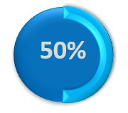 50% circle icon on Business SMS statistics