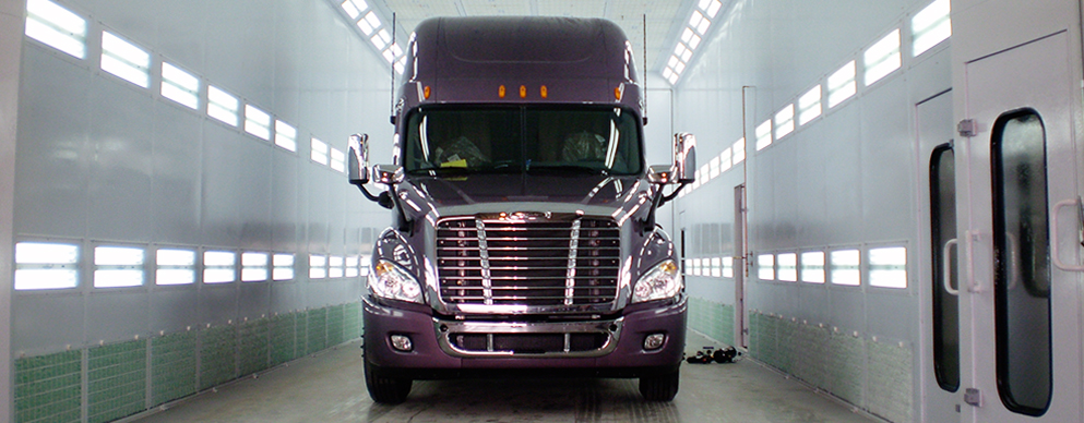 Accudraft TX Truck Paint Booth for Trucks