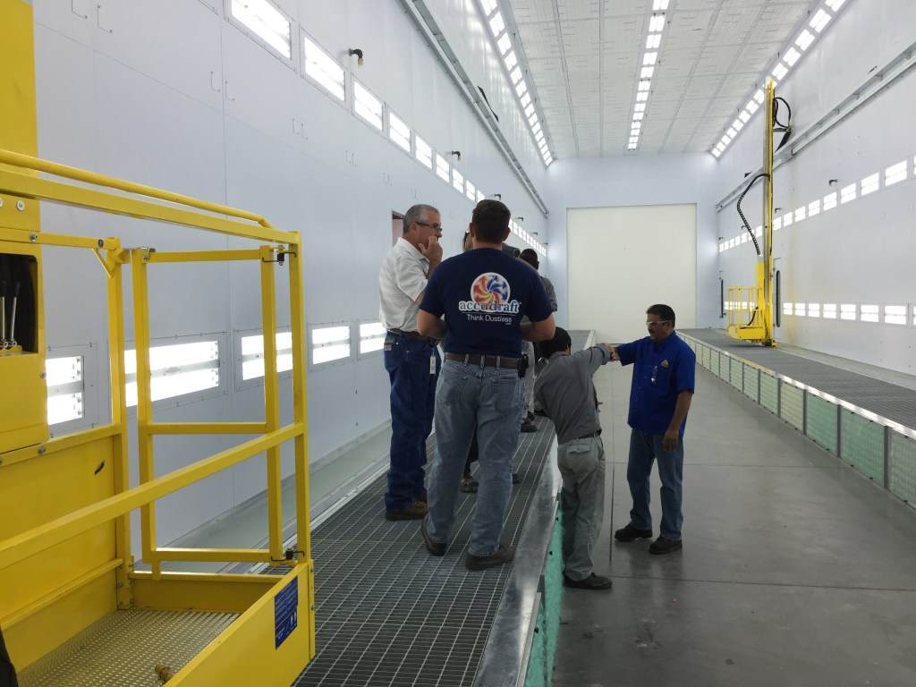 Tx Series Truck Paint Booths Accudraft
