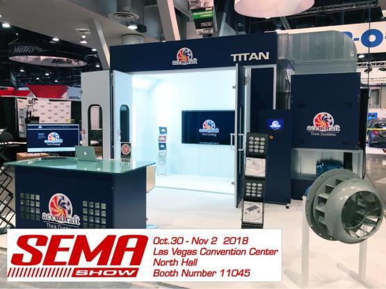 SEMA Show 2018 - Accudraft Paint Booths