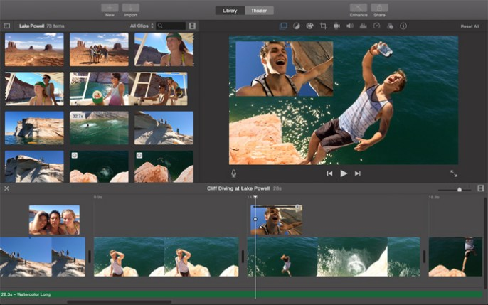 Video editing with iMovie is very simple