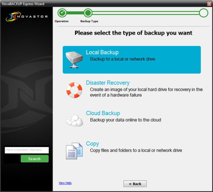NovaBackup PC 17 provides you with many features: some of them you won't find on any other product.