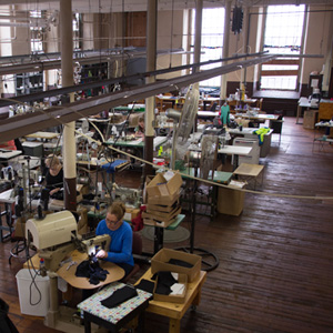 Birdseye view of Accurate's stitching services