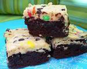 M&M Layered Brownies