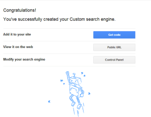 created custom search engine