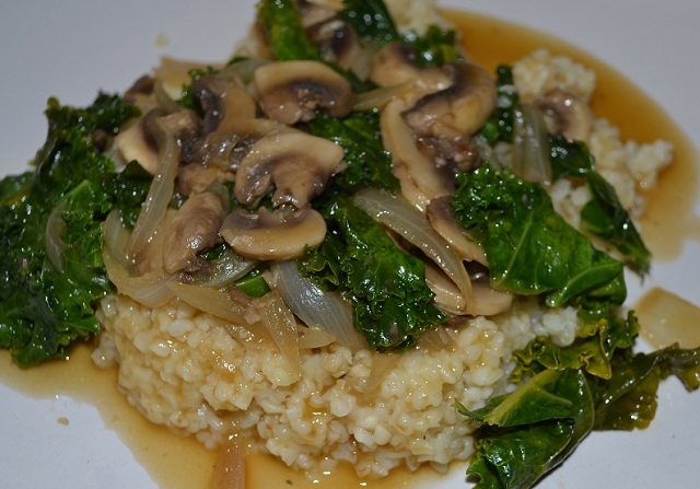 Vegetarian Millet Bowl with Mushrooms Recipe