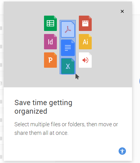 Save time getting organized: Drag files and folder.