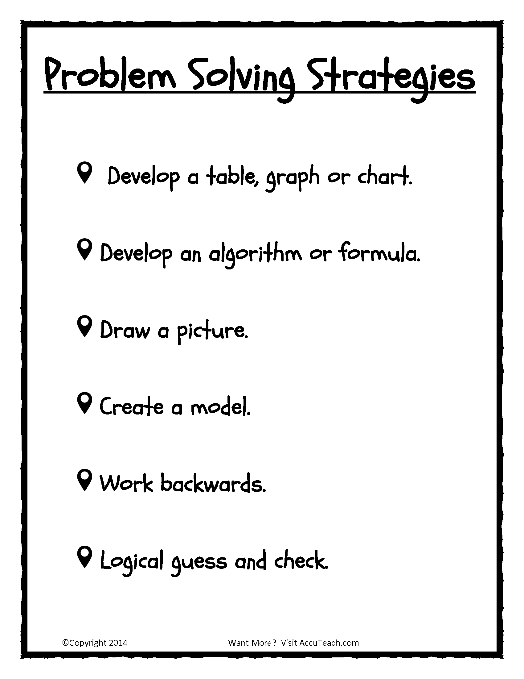 Math Problem Solving For Sixth Graders