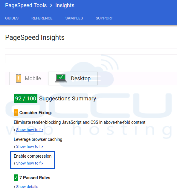 Google Page Speed Insight Compression FeedBack