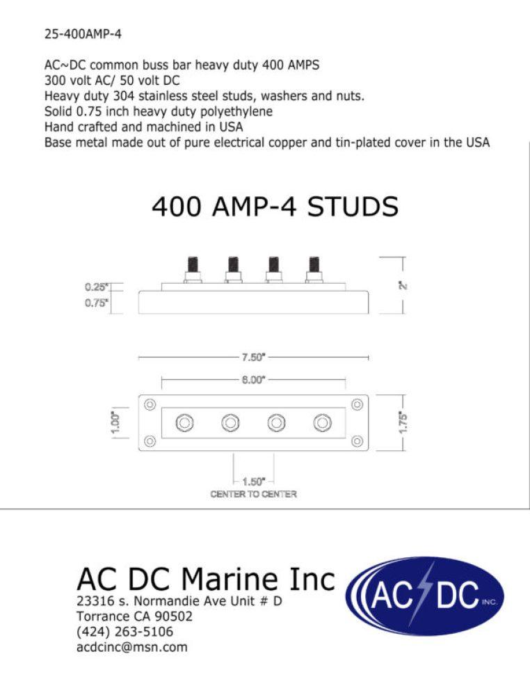400 Amp Power Buss