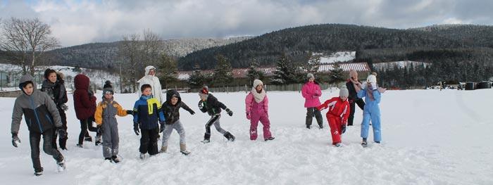 Mini camp à la neige